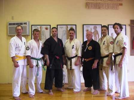 Me, Kyoshi Mansfield with Sensei Learnard and his students