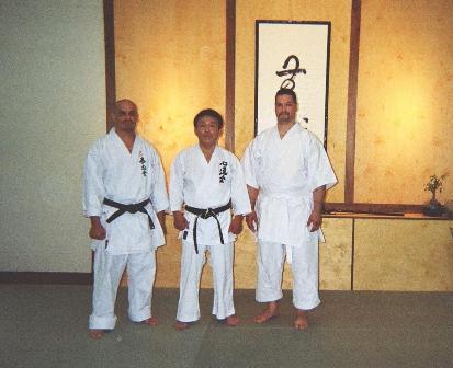 Sensei Santana, Ushiro Shihan , and Sensei Morales May 2008