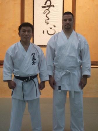 Sensei Morales with Shihan Kenji Ushiro Oct. 2008
