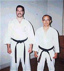 A young Sensei Morales with Shinzato Shihan